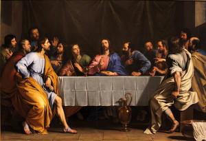 L'ultima cena in un dipinto di Philippe de Champaigne (XVII secolo).
