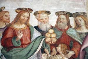Raffaellino Del Garbo - moltiplicazione dei pani e dei pesci da S.M. Maddalena De'Pazzi
