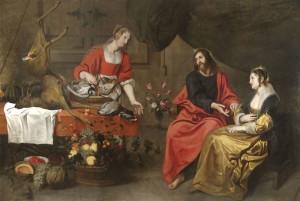 Matthijs Musson - Cristo in casa di Marta e Maria