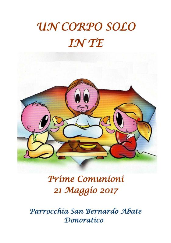 Copertina prima comunione 2017