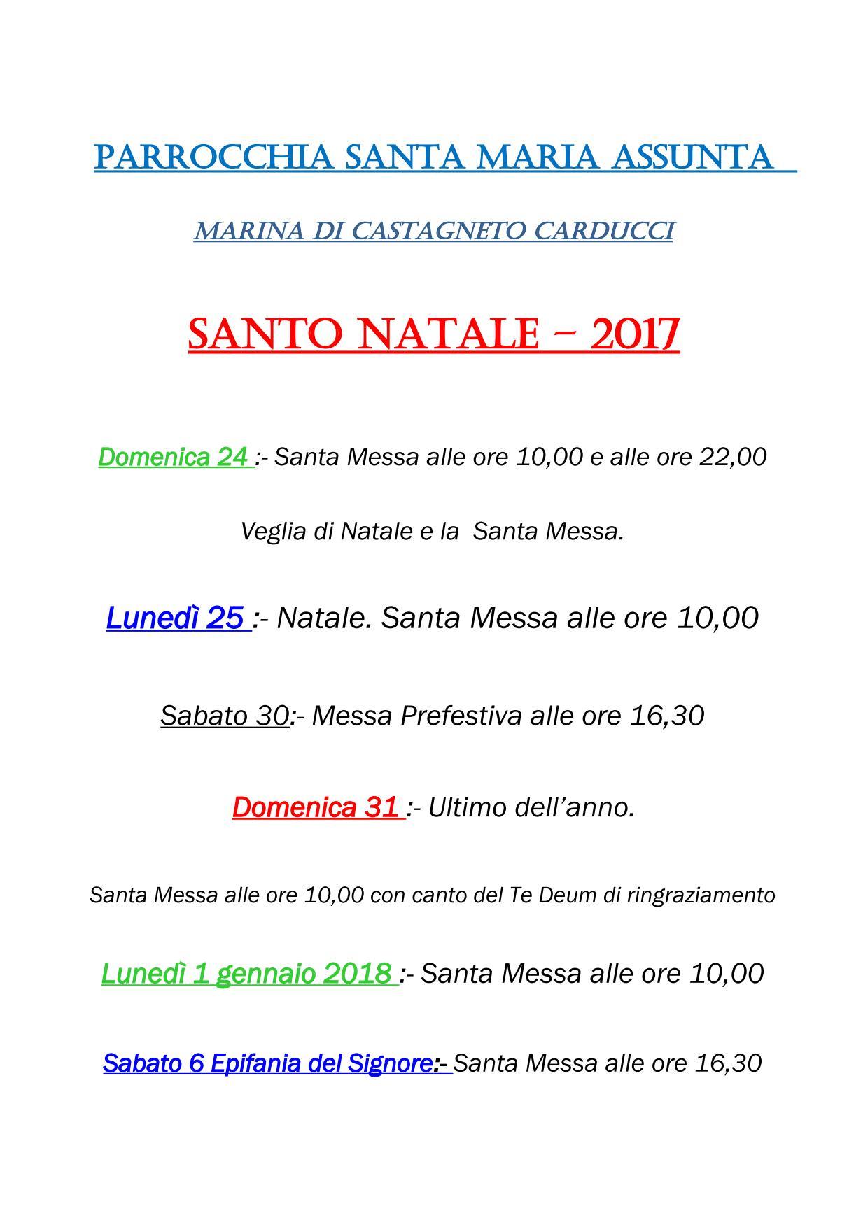 Parrocchia Santa Maria Assunta - Natale2017