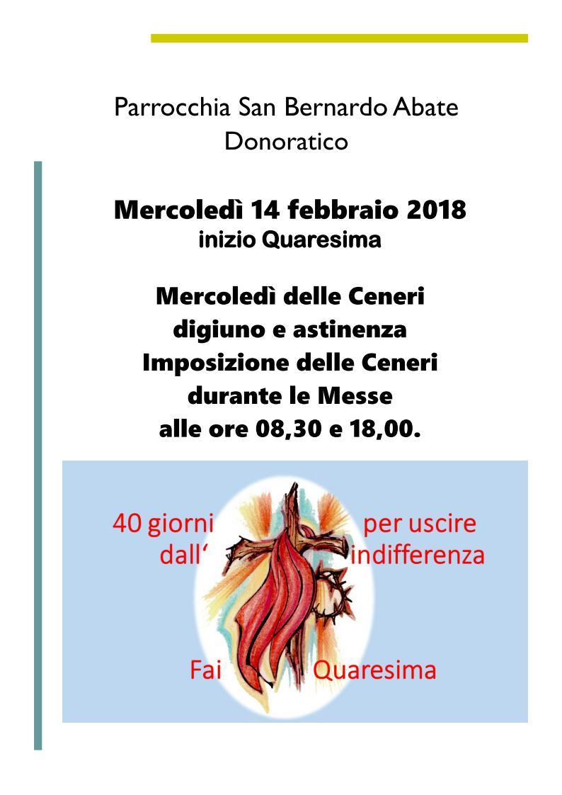Quaresima donoratico 2018