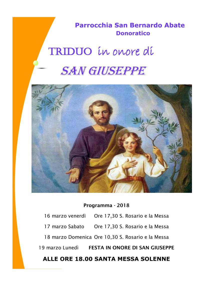 Triduo di San Giuseppe 2018