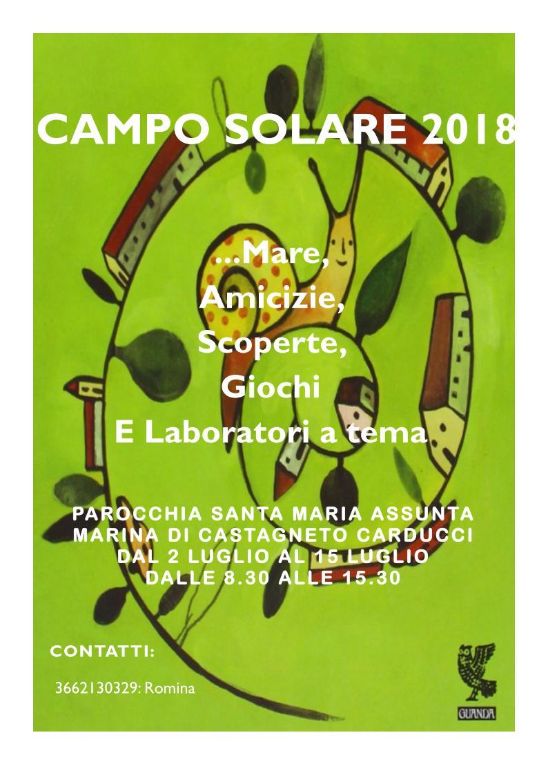 Volantino Campo solare 2018