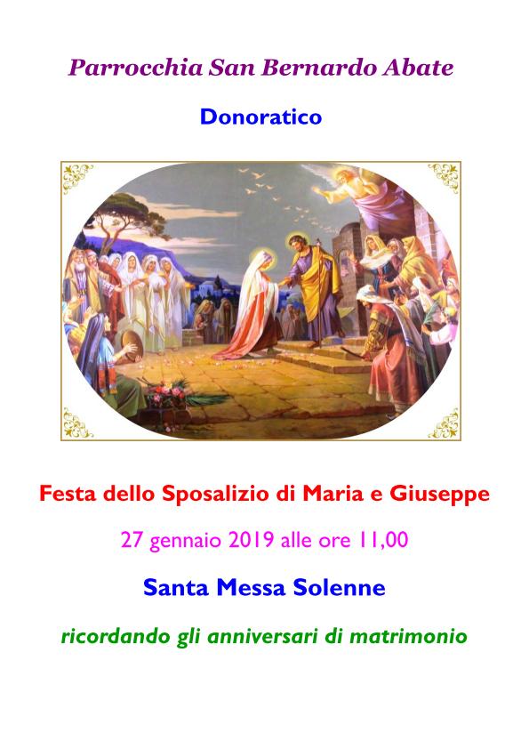 Festa dello Sposalizio 2019